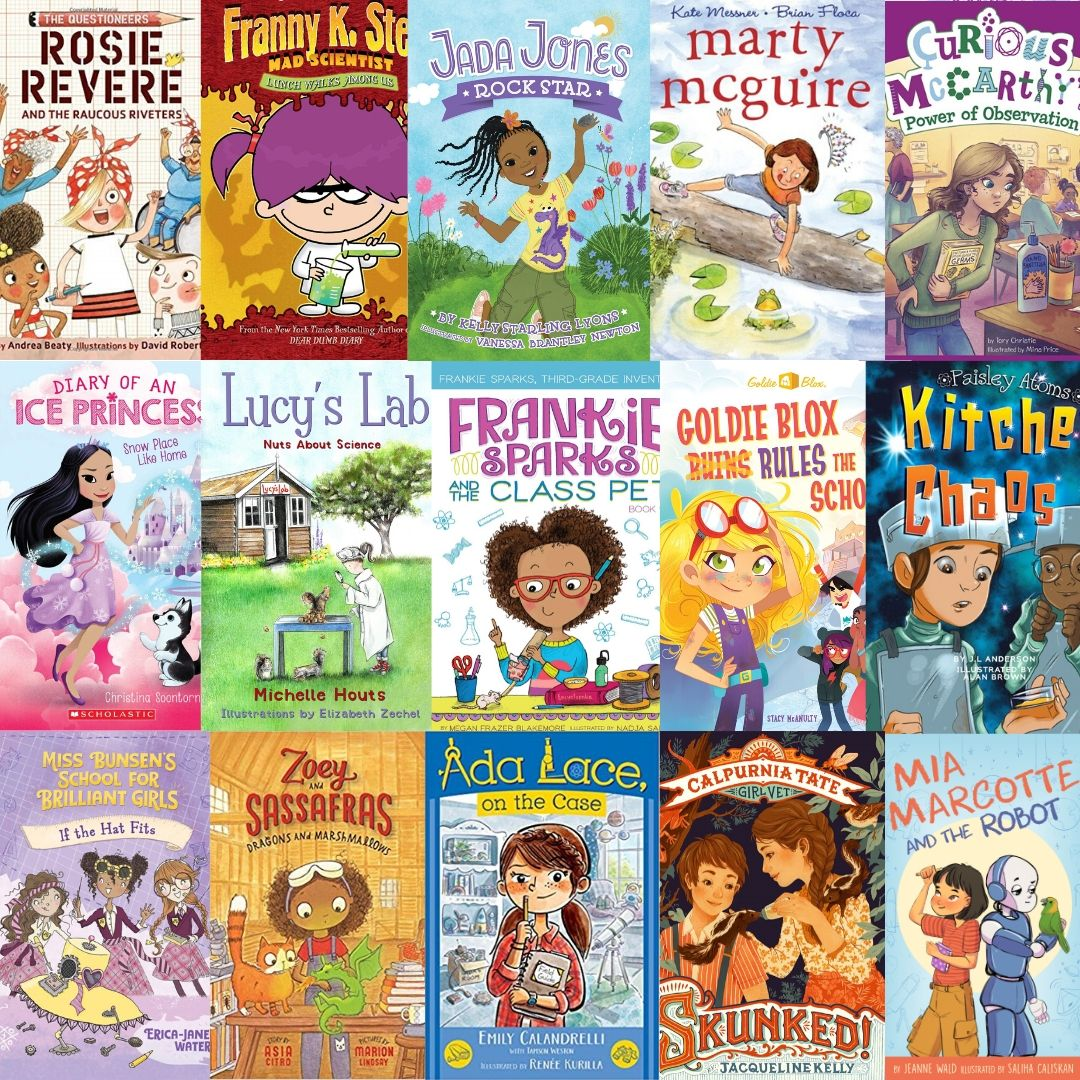 15 STEM girls chapter books