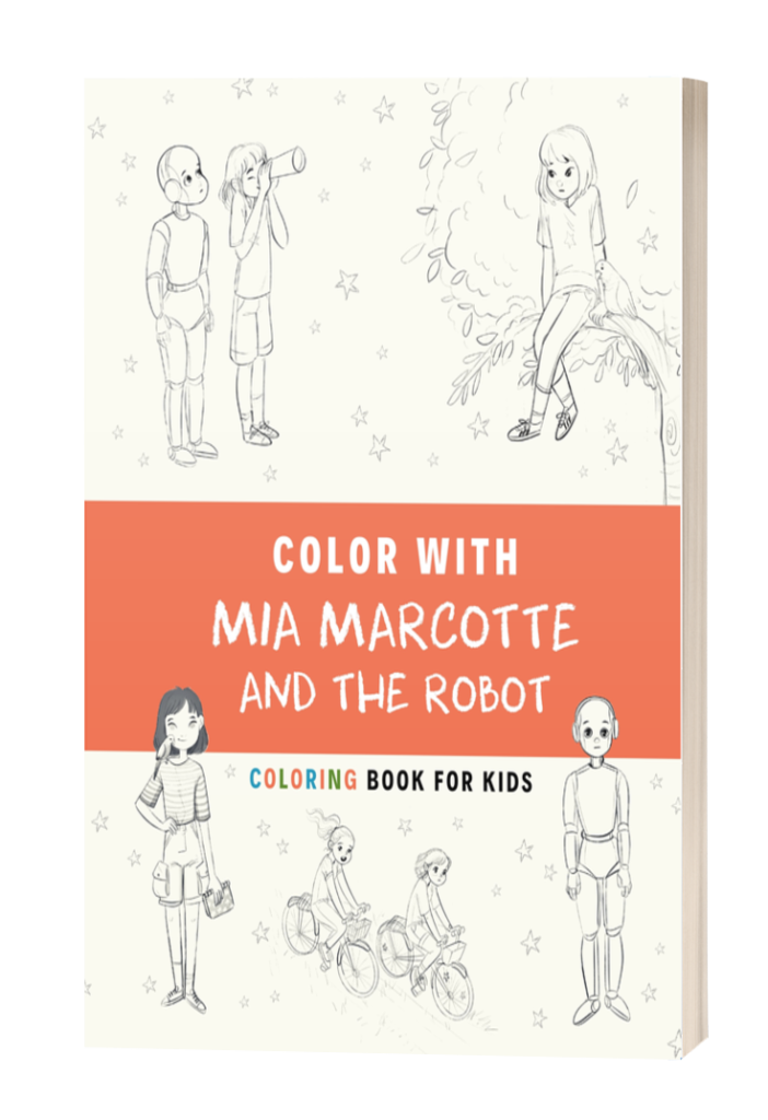 Coloring book Mia Marcotte and the Robot